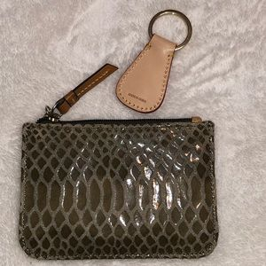 Dooney & Bourke Bags - CROC EMBOSSED COIN PURSE & KEY RING